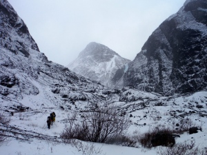 Heading towards the toe of the Eklutna Glacier