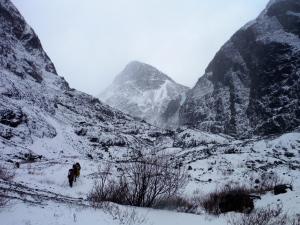 Heading towards the toe of the Eklutna Glacier