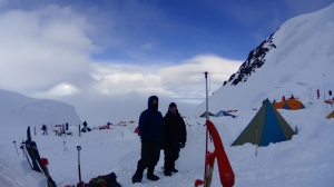 Peter & Jake at 11,000ft Camp